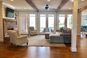 Farmhouse Style House Plan - 4 Beds 4 Baths 4058 Sq/Ft Plan #928-350 Interior - Family Room