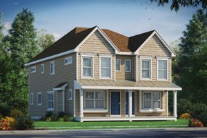 House Blueprint - Traditional Exterior - Front Elevation Plan #20-2465