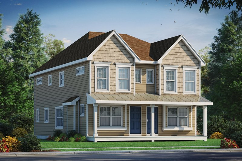 Dream House Plan - Traditional Exterior - Front Elevation Plan #20-2465