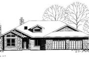 Traditional Style House Plan - 4 Beds 2 Baths 2210 Sq/Ft Plan #303-340 Exterior - Front Elevation