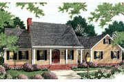 Cottage Style House Plan - 3 Beds 3 Baths 2014 Sq/Ft Plan #406-124 Exterior - Front Elevation