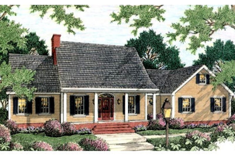 Cottage Exterior - Front Elevation Plan #406-124 - Houseplans.com