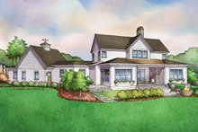 Dream House Plan - Farmhouse Exterior - Rear Elevation Plan #928-309