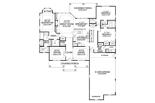 Craftsman Floor Plan - Main Floor Plan Plan #314-290