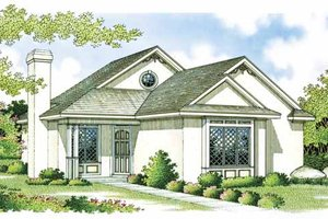Craftsman Exterior - Front Elevation Plan #45-383