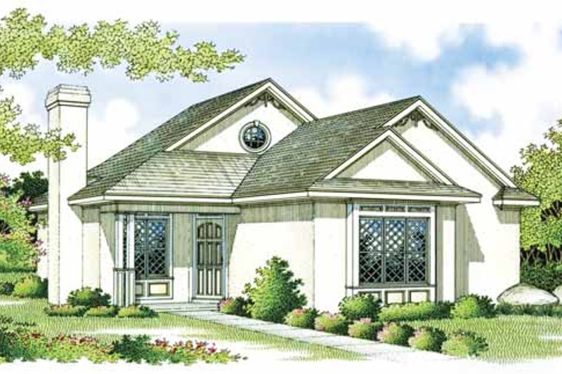 Craftsman Exterior - Front Elevation Plan #45-383 - Houseplans.com