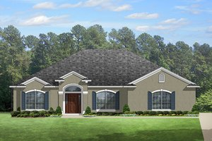 Architectural House Design - European Exterior - Front Elevation Plan #1058-133