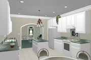 Southern Style House Plan - 3 Beds 2 Baths 1587 Sq/Ft Plan #44-151 Photo