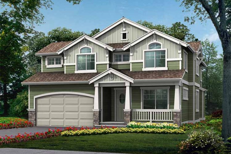 Dream House Plan - Craftsman Exterior - Front Elevation Plan #132-362