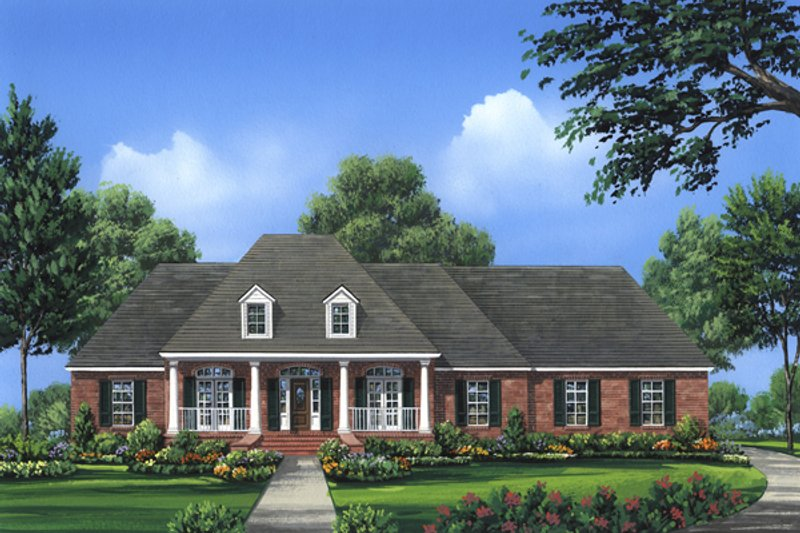 European Exterior - Front Elevation Plan #21-332 - Houseplans.com