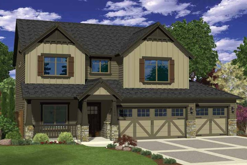 Architectural House Design - Craftsman Exterior - Front Elevation Plan #943-34