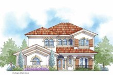 Mediterranean Exterior - Front Elevation Plan #938-26