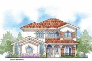 Architectural House Design - Mediterranean Exterior - Front Elevation Plan #938-26