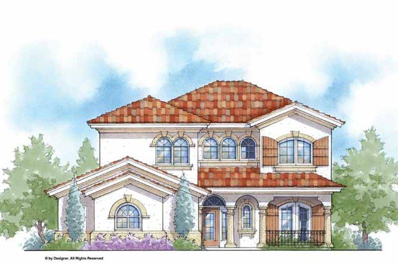 House Plan Design - Mediterranean Exterior - Front Elevation Plan #938-26