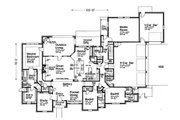 European Style House Plan - 3 Beds 3.5 Baths 3619 Sq/Ft Plan #310-1310 Floor Plan - Main Floor