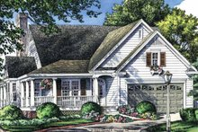 Dream House Plan - Country Exterior - Front Elevation Plan #929-43