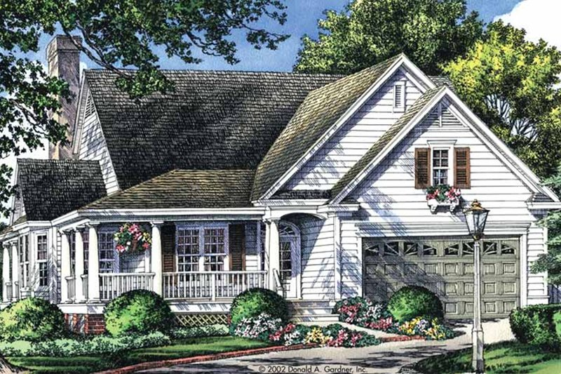 Country Exterior - Front Elevation Plan #929-43 - Houseplans.com
