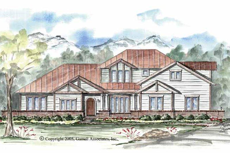 Craftsman Exterior - Front Elevation Plan #54-258
