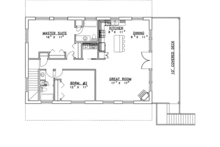 Contemporary Floor Plan - Main Floor Plan Plan #117-839