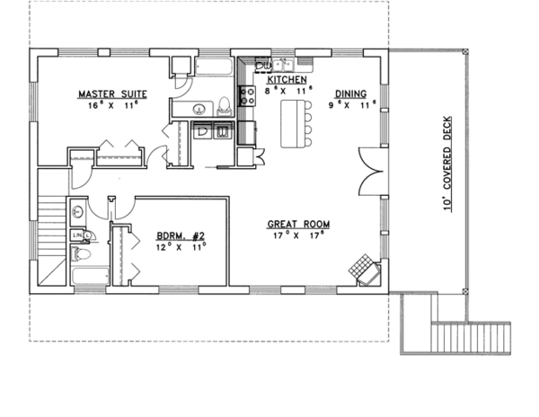 Contemporary Floor Plan - Main Floor Plan Plan #117-839