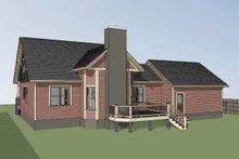 Dream House Plan - Craftsman Exterior - Rear Elevation Plan #79-259