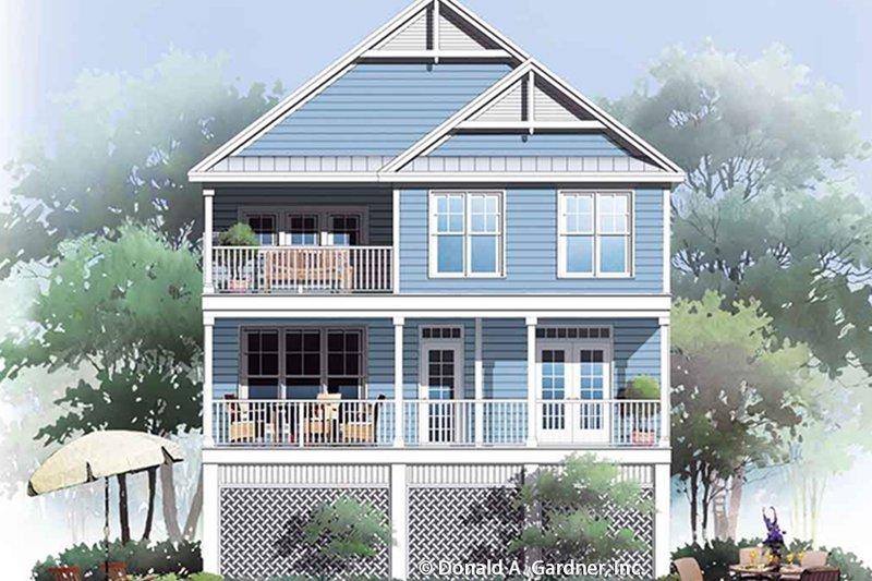 Country Exterior - Rear Elevation Plan #929-996 - Houseplans.com