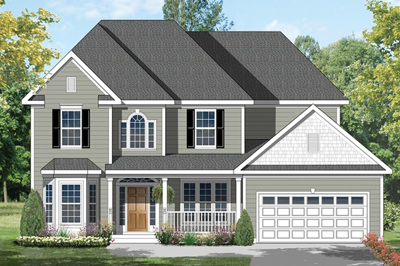 Colonial Exterior - Front Elevation Plan #1053-64 - Houseplans.com