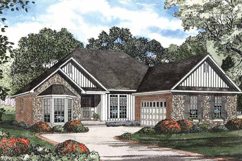 Traditional Exterior - Front Elevation Plan #17-2896 - Houseplans.com