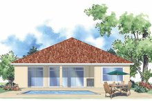 Home Plan - Mediterranean Exterior - Rear Elevation Plan #930-387