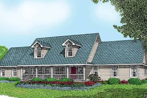 Dream House Plan - Country Exterior - Front Elevation Plan #11-247