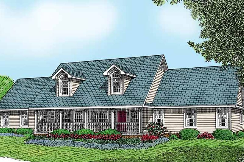 Architectural House Design - Country Exterior - Front Elevation Plan #11-247