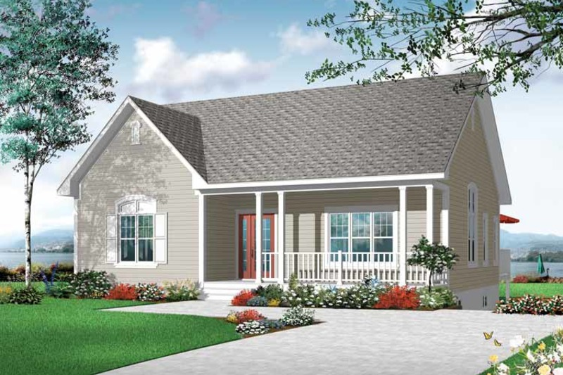 Country Exterior - Front Elevation Plan #23-2413 - Houseplans.com