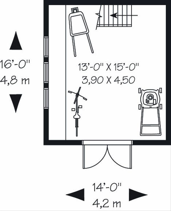 Traditional Floor Plan - Main Floor Plan Plan #23-764