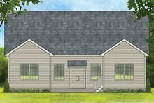House Plan Design - Ranch Exterior - Rear Elevation Plan #1010-181