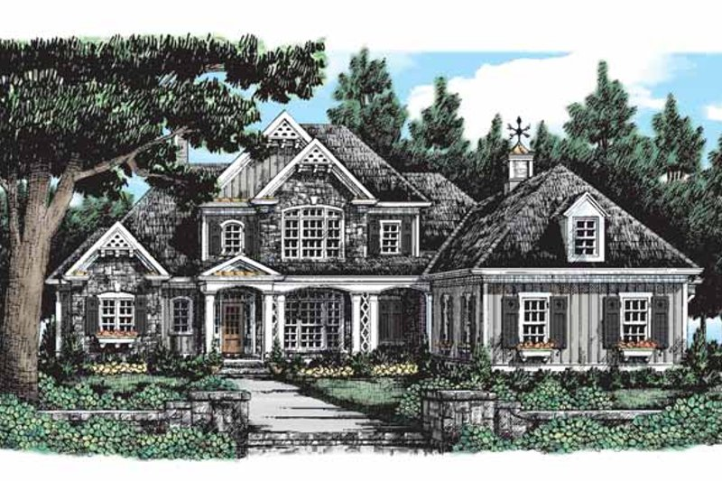 Country Exterior - Front Elevation Plan #927-289