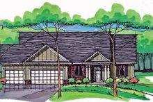 House Plan Design - Prairie Exterior - Front Elevation Plan #51-1043