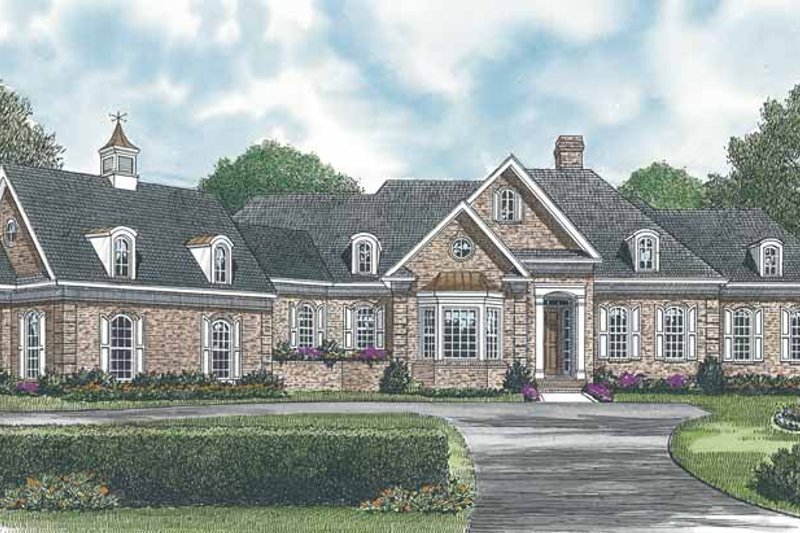 Architectural House Design - Traditional Exterior - Front Elevation Plan #453-547