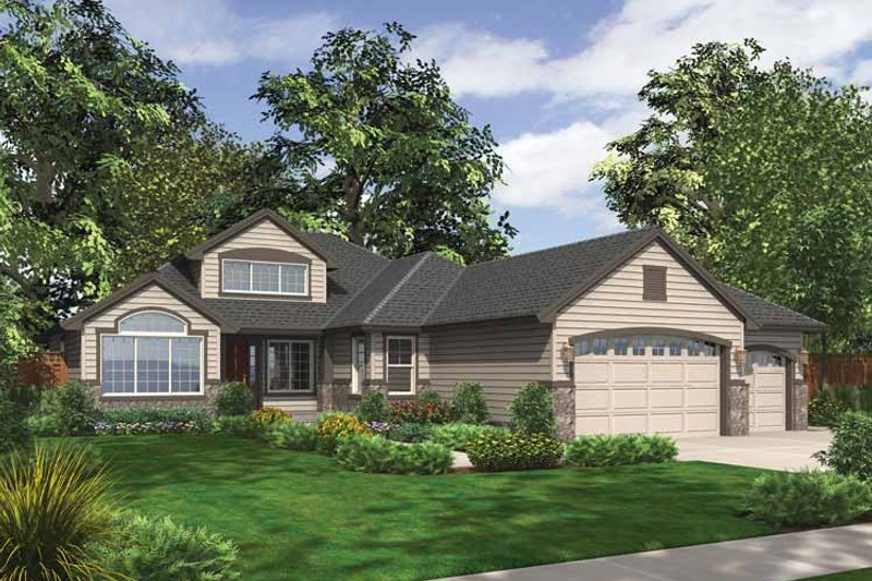 Traditional Exterior - Front Elevation Plan #132-536 - Houseplans.com