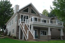 Craftsman Exterior - Rear Elevation Plan #1064-7