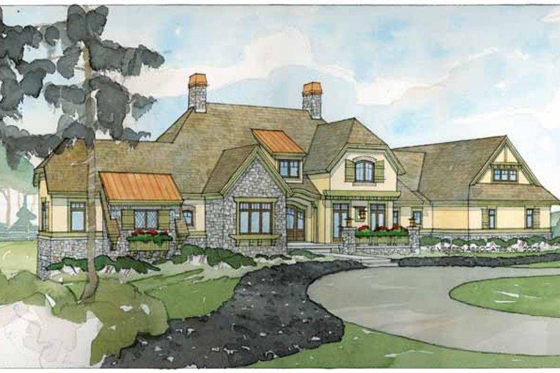 European Exterior - Front Elevation Plan #928-66 - Houseplans.com