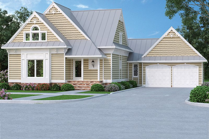 Home Plan - Country Exterior - Front Elevation Plan #45-399