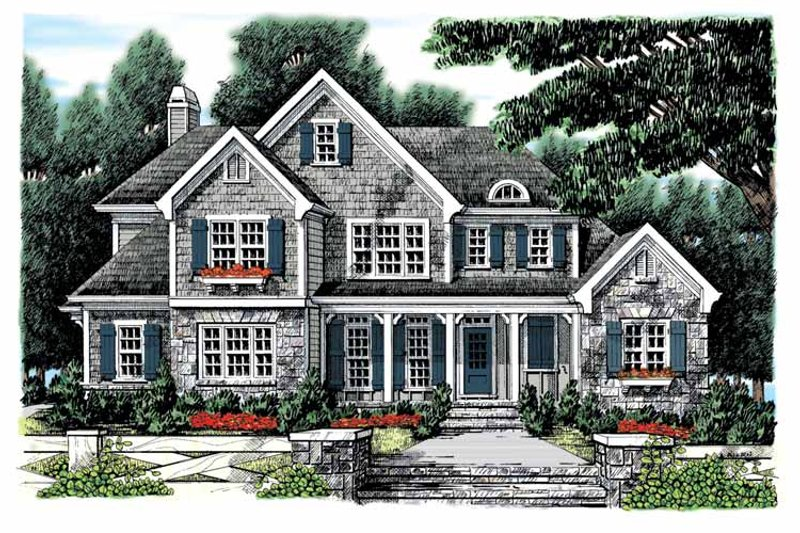 Home Plan - Country Exterior - Front Elevation Plan #927-883