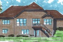Architectural House Design - European Exterior - Rear Elevation Plan #320-991