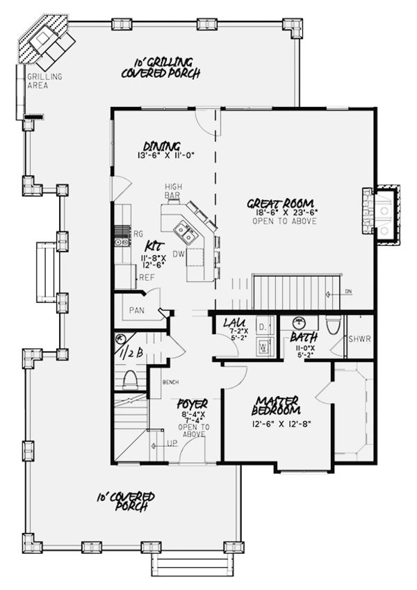 Country Floor Plan - Main Floor Plan #17-3380