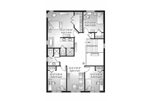 Craftsman Floor Plan - Upper Floor Plan Plan #23-2483