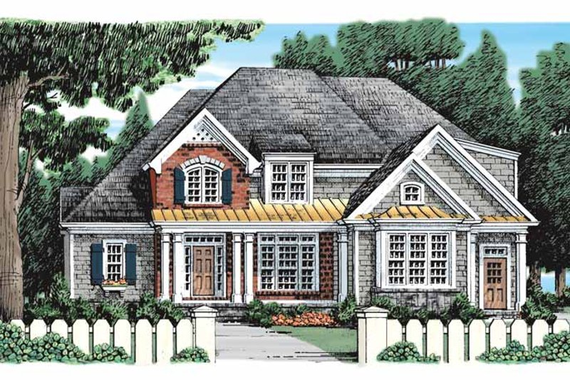 Country Exterior - Front Elevation Plan #927-915