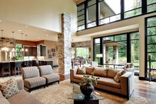 Dream House Plan - Modern Interior - Family Room Plan #132-221