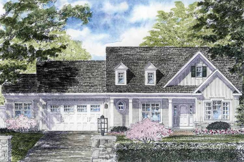 Colonial Exterior - Front Elevation Plan #316-264