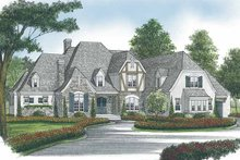 House Plan Design - European Exterior - Front Elevation Plan #453-593