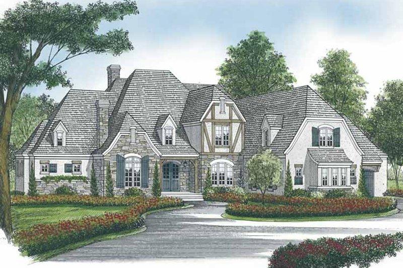Dream House Plan - European Exterior - Front Elevation Plan #453-593